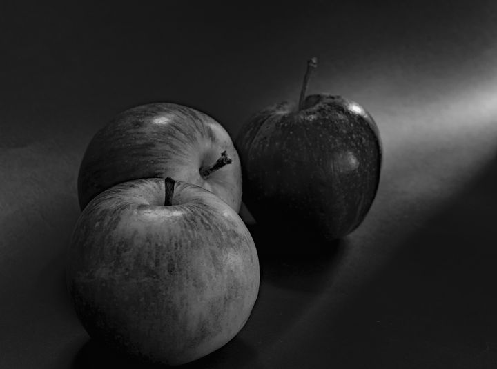 Three Apples Monochrome - JT54Photography