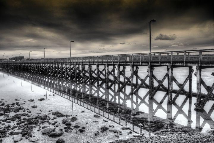 The Pier At Amble Monochrome - JT54Photography
