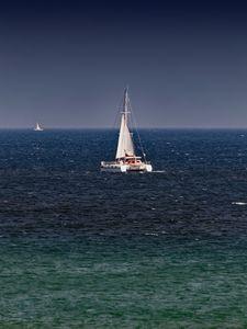 Catamaran Under Sail