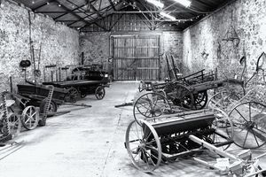 Old Farm Implements Monochrome