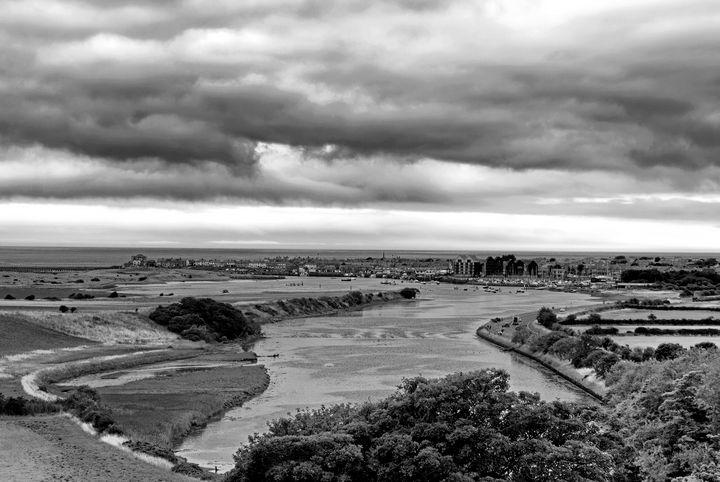 The Estuary At Amble Monochrome - JT54Photography