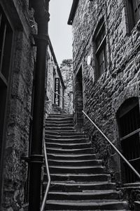 Side Street Steps Monochrome