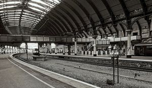 Railway Station Monochrome
