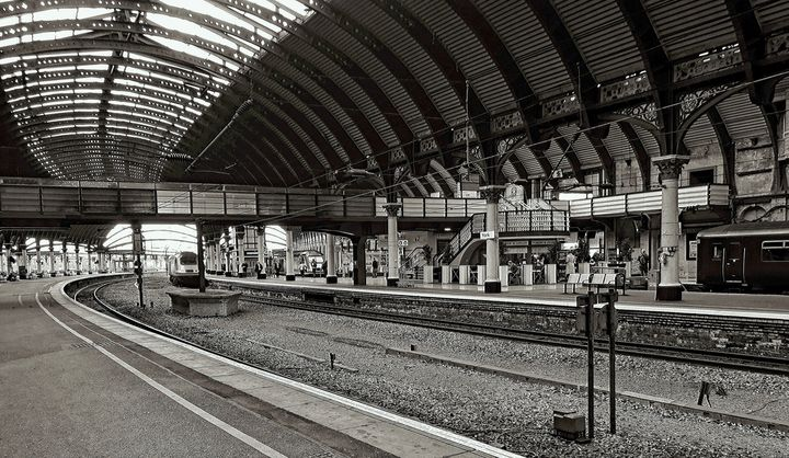 Railway Station Monochrome - JT54Photography