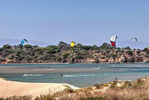 Kite Surfing At Alvor