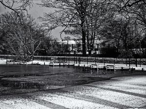 Frozen Lake Monochrome