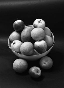 Fruit Bowl Monochrome