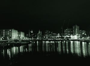 Waterfront Lights Monochrome