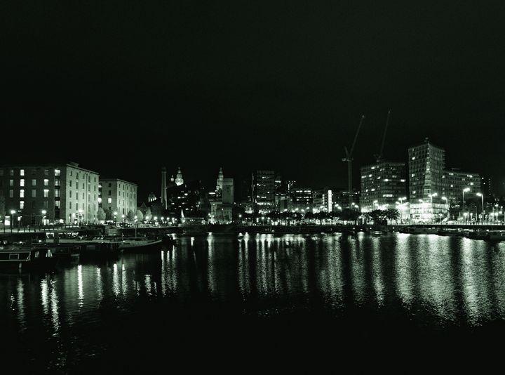 Waterfront Lights Monochrome - JT54Photography
