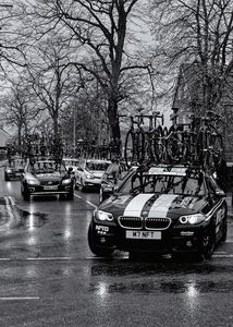 Race Team Cars Monochrome