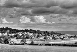 Alnmouth Village Monochrome