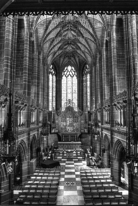 Liverpool Cathedral Lady Chapel Mono - JT54Photography