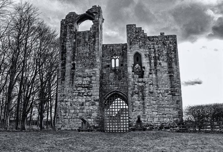 Etal Castle Monochrome - JT54Photography
