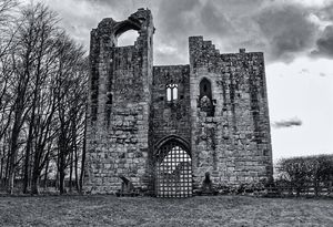 Etal Castle Monochrome