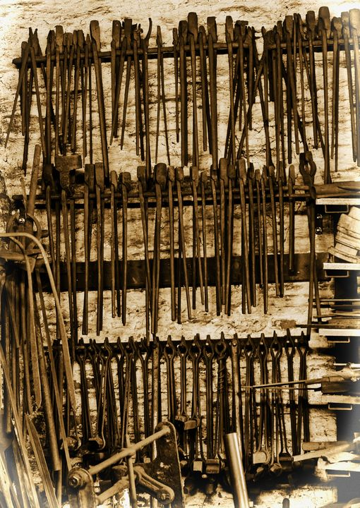 Blacksmiths Tools Sepia - JT54Photography