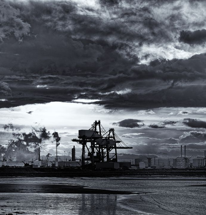 Industrial Scene Monochrome - JT54Photography
