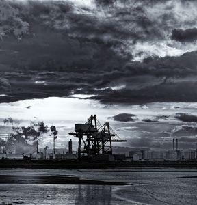Industrial Scene Monochrome