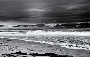 North Sea Turbines Monochrome