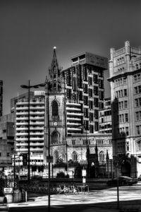 Liverpool Cityscape Monochrome