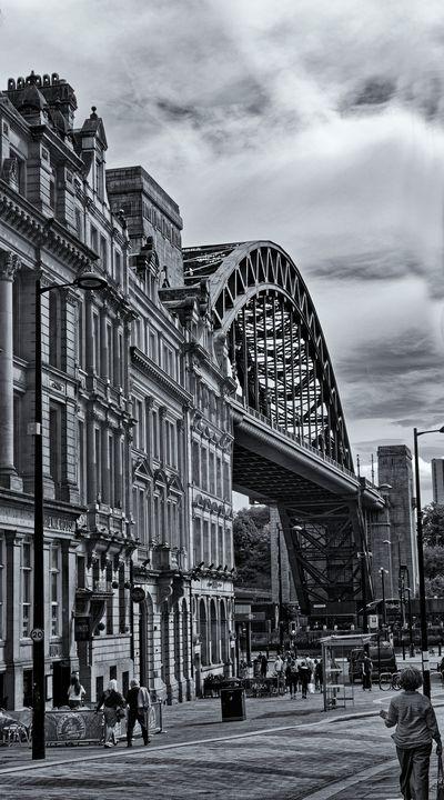 Newcastle Tyne Bridge Monochrome - JT54Photography