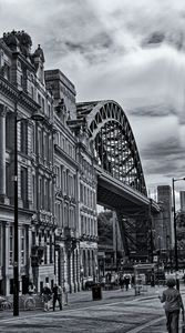 Newcastle Tyne Bridge Monochrome