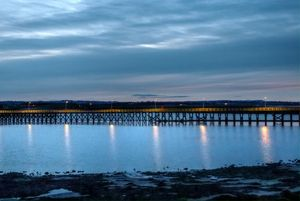 Amble Pier At Night