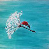 Ladybug in a dandelion
