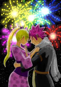 Nalu beneath the fireworks