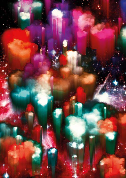"""Candy Nebula Island"" Wall Art - PLANETRY ONLINE"
