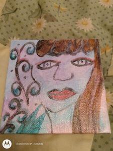 Painted 4*4 canvas - Aunt-kks art