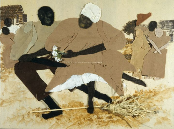 Jump The Broom Rev Claire Paintings Prints Ethnic Cultural Tribal African American Artpal