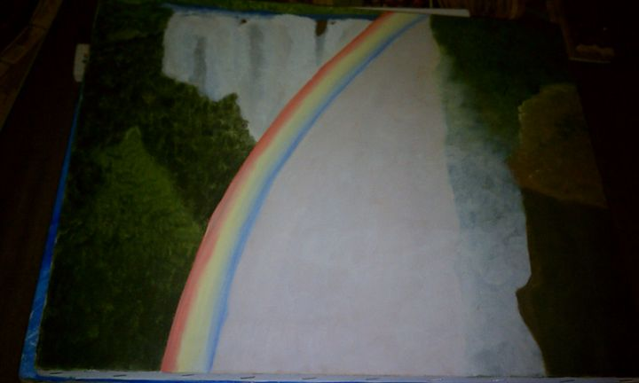 Waterfall with oil - Greeneyed_Artist88