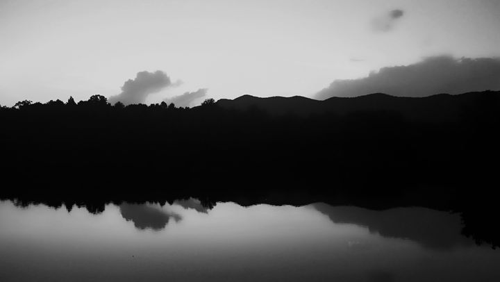 Mountains Reflected in a Lake - Kelly Hazel