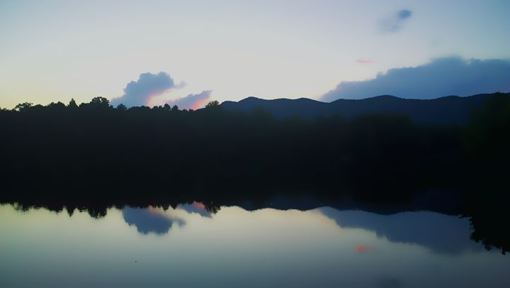 Blue Ridge Mountains over a Lake - Kelly Hazel
