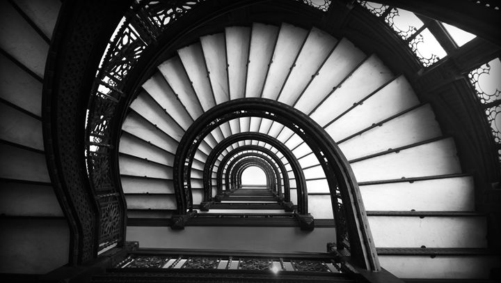The Rookery Stairs Chicago IL - Kelly Hazel