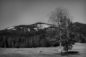 Table Rock in Black and White