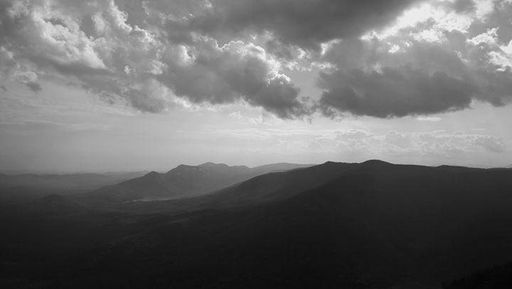Blue Ridge Mountains in B&W - Kelly Hazel