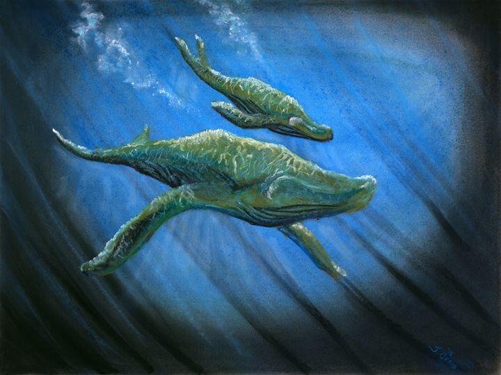 Light Dancing on Whales - Jim's Art Spot