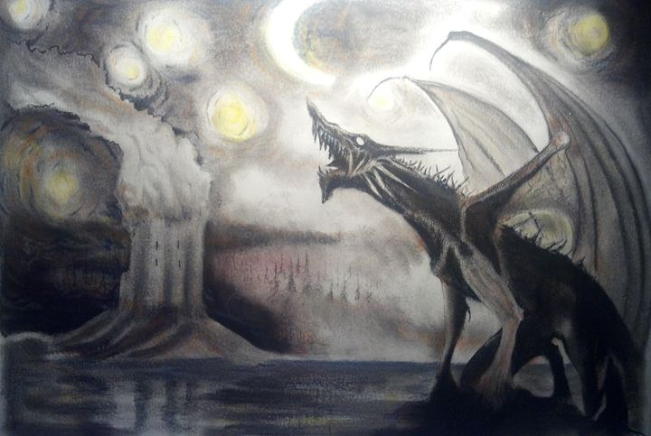 Howling Dragon - Jim's Art Spot