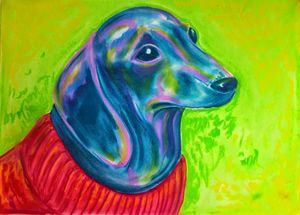 Dachshund in a Red Sweater - James Craig
