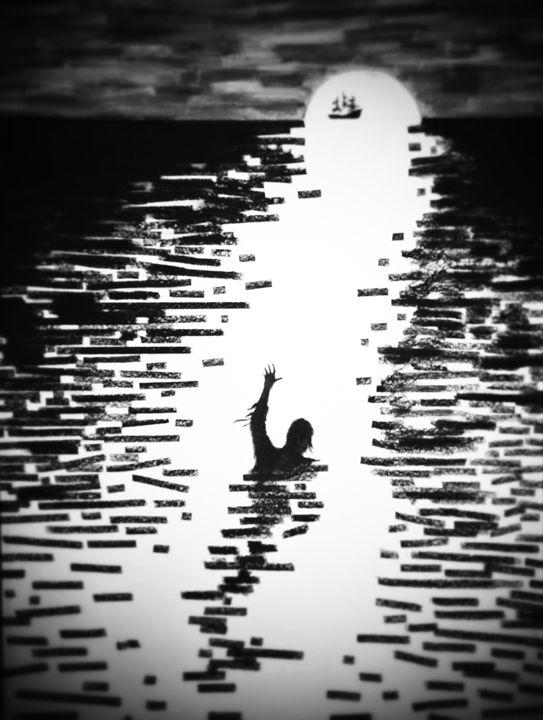 Hope. (Black and White) - Jim's Art Spot