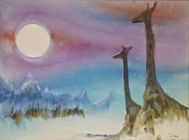 Giraffes on the Edge - Jim's Art Spot