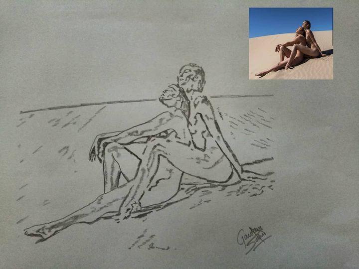 Nude models portrait - Artistgautam