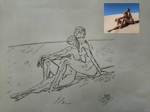 Nude models portrait