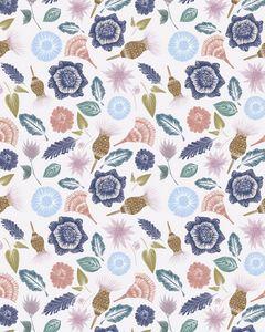 Compressed flower print