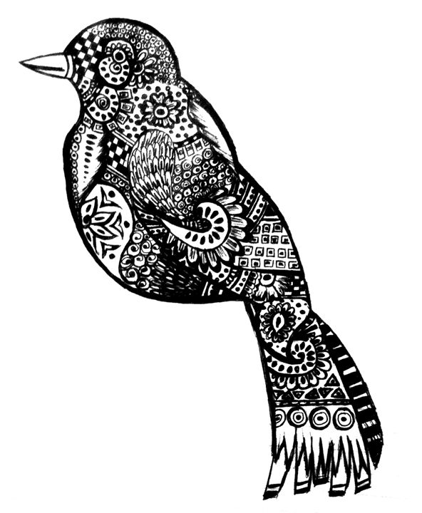 Bird Abstract Art - Ramla's Gallery
