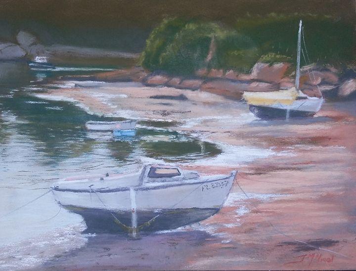 Deux bateaux endormis à Ploumanac'h - Jean-marie Nicol