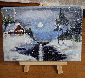 clair de lune sous la neige