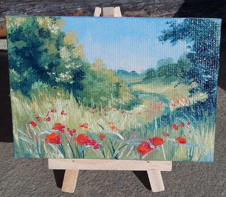 Promenade dans les champs ( vendu ) - Jean-marie Nicol