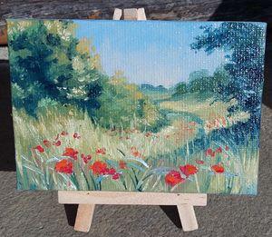 Promenade dans les champs ( vendu )